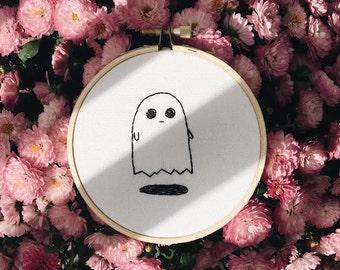 Halloween Ghost Embroidery Hoop