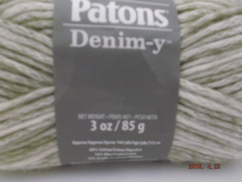 Patons Denim-y Yarn ~ Wool Blend ~ Khaki Beige (Denim) ~ #4 Medium ~ 85 grams ~ 144 Yards ~
