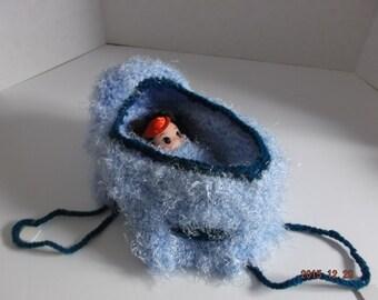 Hand Knit CRADLE PURSE