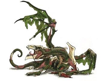 Undead Dragon Print