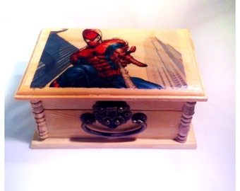 Spiderman, keepsake box, Men gifts, marvel comics, marvel, marvel gifts, teen gifts, comics, Unique gift, Boys gifts, gifts, birthday Gift,