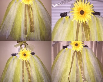 Sunflower Tutu Dress with matching headband