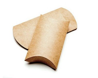 Kraft Pillow Boxes (24 Pieces)