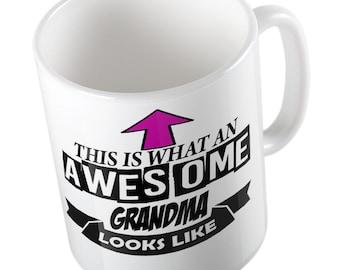 This is what an awesome Grandma looks like joke fun Mug