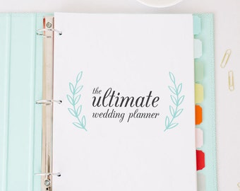 The Ultimate Wedding Planner - Create Your Own Wedding Binder - Instant Download