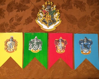 Hogwarts Mini House Banners