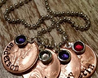 Custom necklace for mom's or grandma's