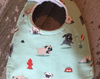 Pug baby bib/ dog baby bibs