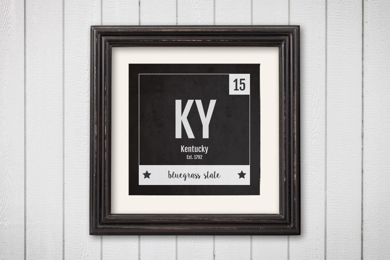 kentucky print periodic table kentucky home wall art. Black Bedroom Furniture Sets. Home Design Ideas