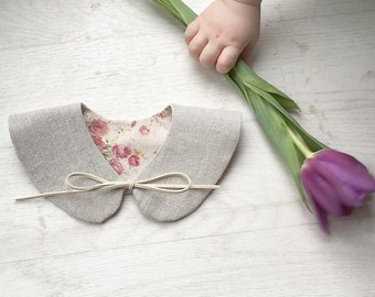 Children's reversible Peterpan collar