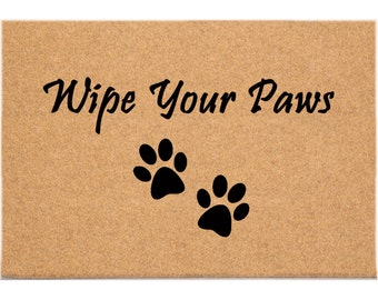 D70755 - 24 x 36 DuraCoir Funny Mat - Wipe Your Paws
