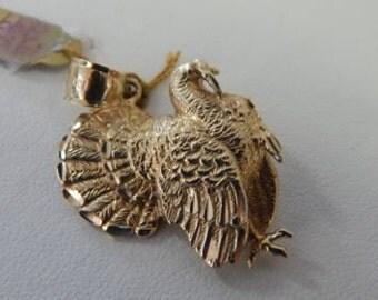 """14 KT Yellow Gold Turkey Pendant - Stamped """"DZ"""""""