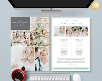 Pricing Guide Photoshop Template Design, Photography Price Sheet, Price  List Template Design For Photographer