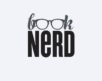 Book Nerd - School Decal - Book Decal - Funny Yeti Decal - Nerd Decal - Book Nerd Decal