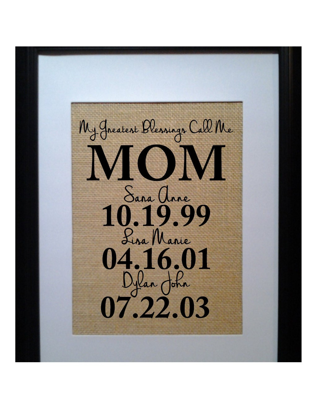 Personalized gift for mom mothers day from kids gifts