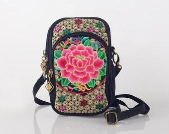 Embroidered Bag, Floral Bag, Boho Bag, Vintage Bag, Gypsy Bag, Ethnic Bag, Patchwork Bag, Festival Bag, Hobo Bag, Bohemian Bag, Tribal Bag
