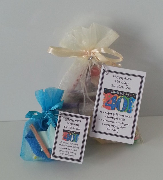 Happy 40th Birthday Survival Kit Novelty By