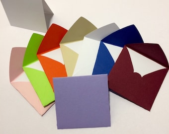 """Small square envelopes with cards 2x2"""""""