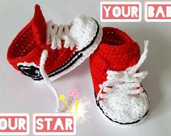 Baby booties, crochet baby booties, baby gift, baby shower, red baby booties, crochet booties, baby shoes, newborn gift, newborn booties