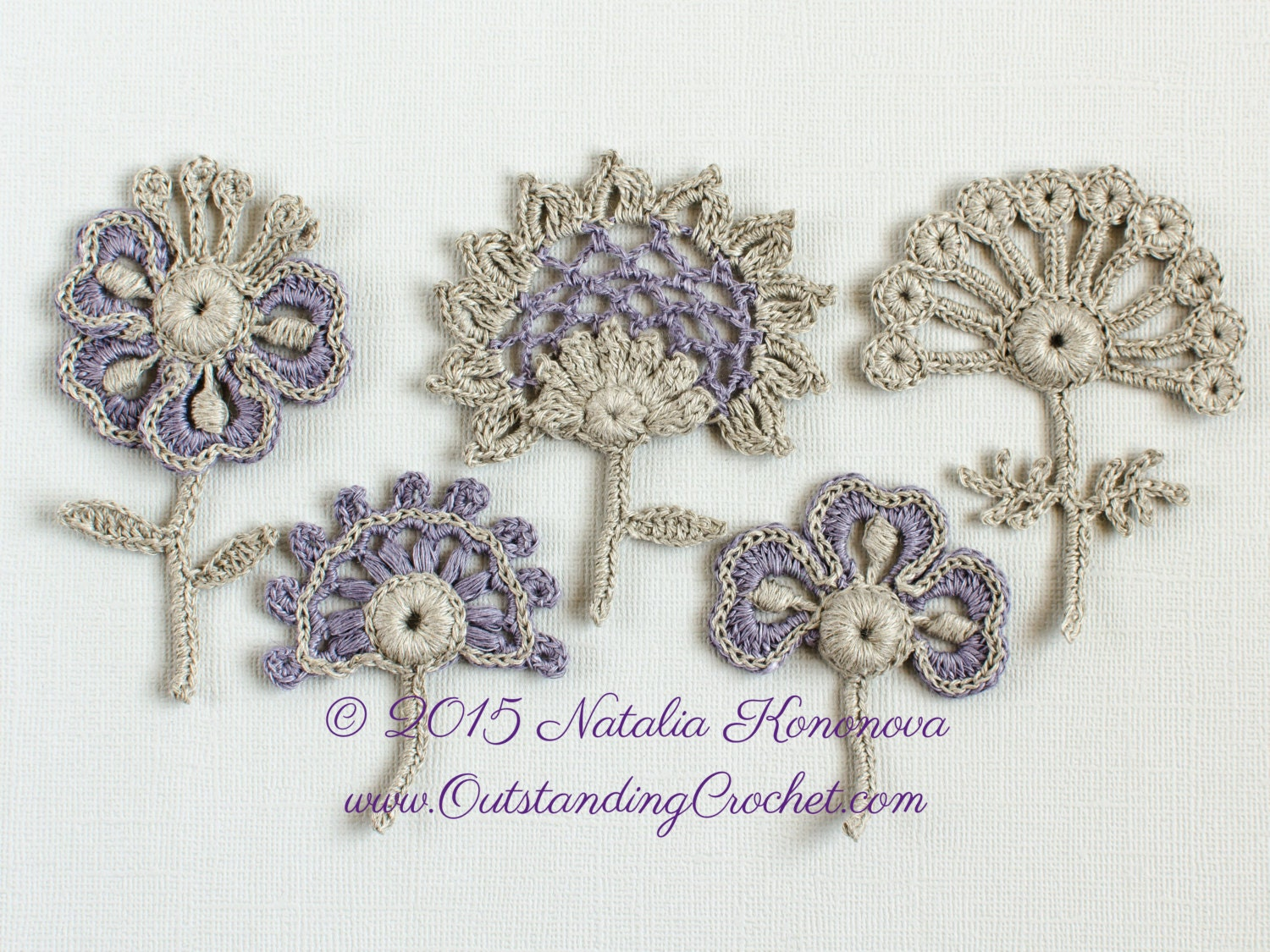 Irish crochet applique pattern flowers set lace motifs set of irish crochet applique pattern flowers set lace motifs set of 5 with discount crochet decor crochet embellishment pdf dt1010fo