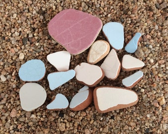 Sea Pottery, Beach Pottery, Sea Ceramic, Tumbled Ceramic, Pieces of Sea Pottery