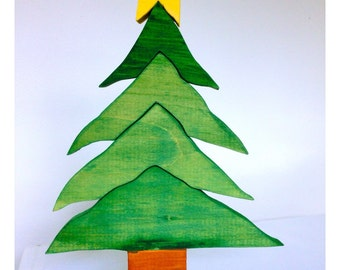 Christmas tree stackable puzzle