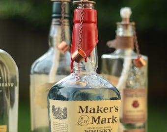 Bourbon Bottle Tabletop Tiki Torch