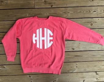 Full Chest Monogram Comfort Color Sweatshirt