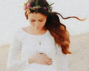 Hand-made Paintings from your Photo - Super Gifts,contemporary portrait painting,paint a portrait from a picture,painting a portrait