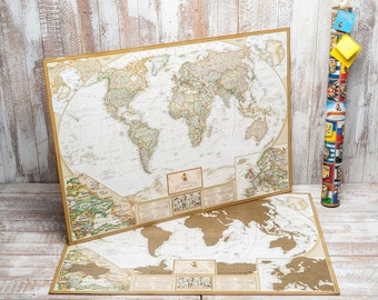 Travel Gifts, Travel Gifts for Men, Personalized World Map, Large World Map Poster, Wanderlust, Adventure Map by The Map Lab