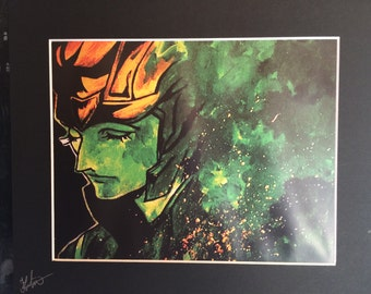 Loki, Anime, Limited Edition Mounted Print, Signed by Artist, Acrylic, Print, Wall Art
