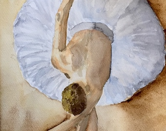 Ballerina, Watercolor Painting