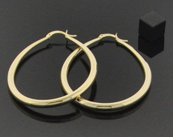 18K Gold Large Hoops - Lasts for YEARS