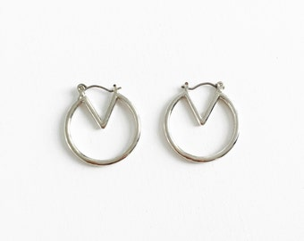 Geometric hoop earrings, simple earrings, minimal jewelry