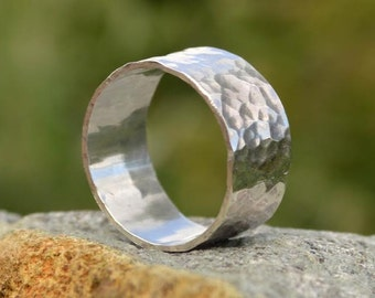 Sterling Silver Hammered Textured Ring