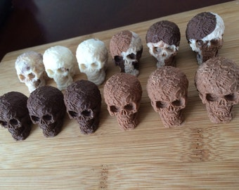 3D Chocolate Skulls