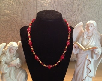 Festive Red Necklace