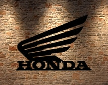 Honda Motorcycle Inspired Metal Wall Art Metal Man Cave Art USA  Steel Metal Sign  14x10.5  Man Cave Garage Art    Better than Vinyl!