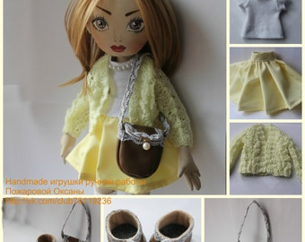 Textile handmade doll Marta