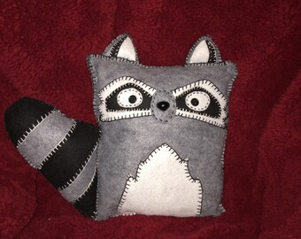 Felt Plush Raccoon