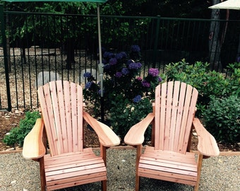 Adirondack Chairs Quality Redwood Built to Last!