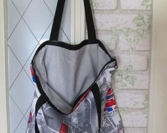 Fabric bag London zip