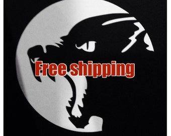 "Werewolf Moon - vinyl decal 4""x4"" --- FREE SHIPPING in the U.S."