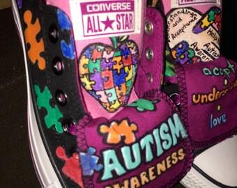Autism Awareness Converse Shoes