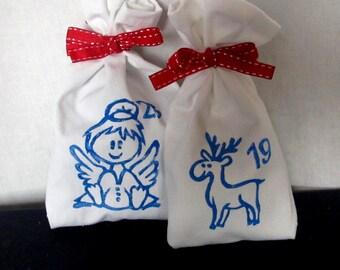 Advent calendar Christmas Advent CaCalendar Fabric Bags Christmas Advent Calendar Fabric Bags Christmas Countdown Advent Calendar