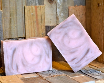 Cherry Almond Handmade Artisan Soap Cold Progress