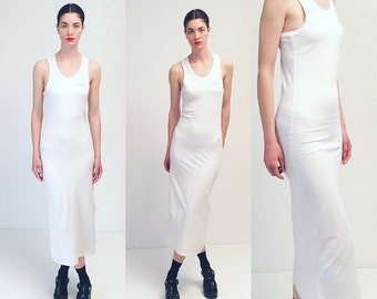 Vintage 90s DKNY White Minimalistic Dress
