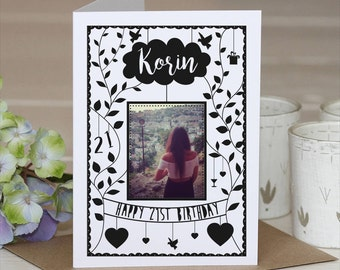 Birthday Card // Cut out Paper Card // Personalised Card