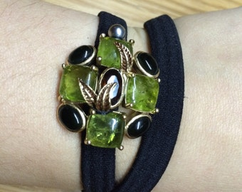 Ivy green vintage bling head band