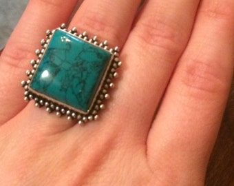 Vintage early 90's turquoise ring